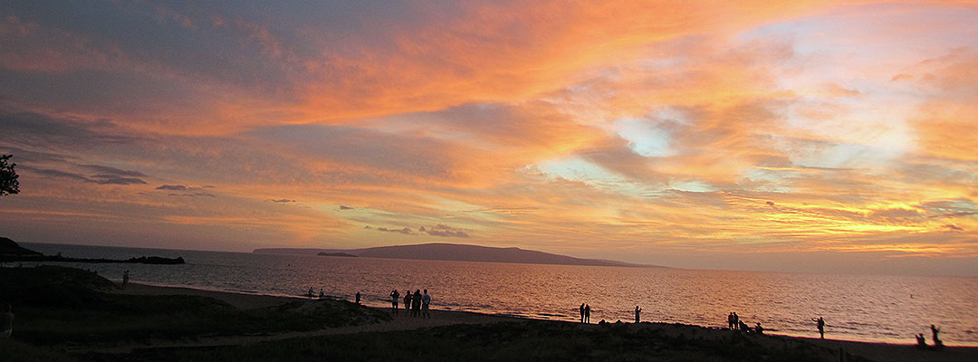 Maui Kamaole II Beach Sunset