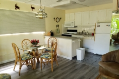 Dining and kitchen area with filtered drinking water