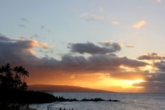 Beautiful sunset at Behr's Escape Maui Condo