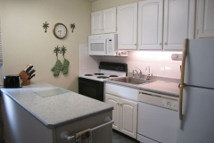 Upgraded kitchen includes all the necessities and includes filtered drinking water