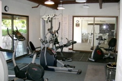 Exercise room with a/c in the pool area