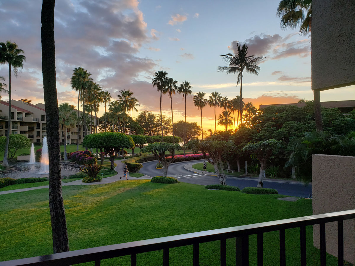 Viewing another awesome Lanai Sunset