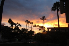 Beautiful Hawaiian sunsets seen from the condo and lanai