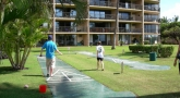One of three shuffleboard courts